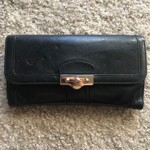 Bally Long Wallet in Black Leather